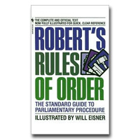 Robert's Rules Of Order The Standard Guide To Parliamentary Procedure