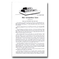 Firm Foundation - Correspondence Course